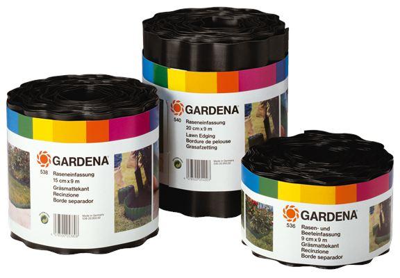 Бордюр черный 20 см GARDENA