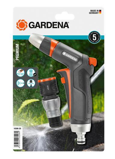 Пистолет-наконечник для полива Premium + Коннектор с автостопом Premium GARDENA