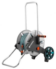 Тележка для шлангов металлическая AquaRoll M с комплектом для полива
