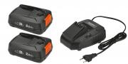 Комплект: 2 x аккумулятор литий-ионный P4A PBA 18V/45 и устройство для ускоренной зарядки P4A AL 1830 CV