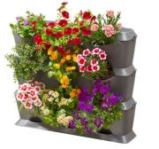 Базовый модуль для вертикального садоводства горизонтальный (3 емкости, 3 крышки, 1 поддон, 12 клипс)