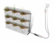 Комплект микрокапельного полива для вертикального садоводства для 9 горизонтальных горшков
